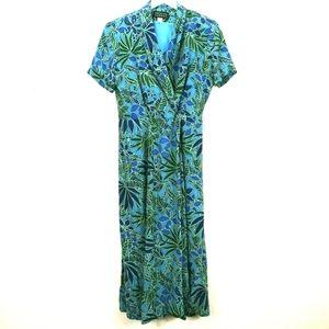 Spenser Jeremy Vintage 90's Floral Silk Maxi Dress